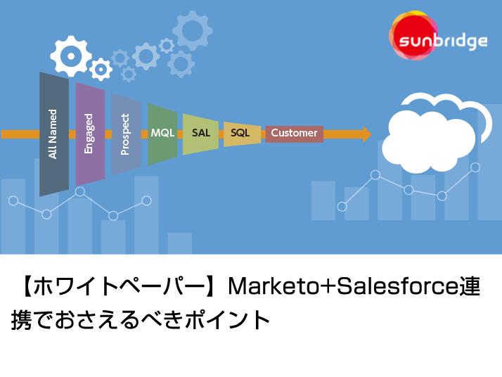 【ホワイトペーパー】Marketo+Salesforce連携でおさえるべきポイント